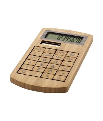 Calculatrice bambou alimentation solaire
