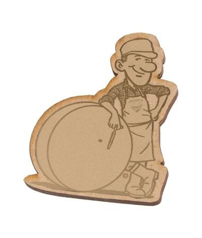 Badge 025 personnalisé en bois