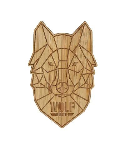 Badge 025 personnalisé en bambou