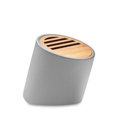 Enceinte sans fil en pierre & bambou