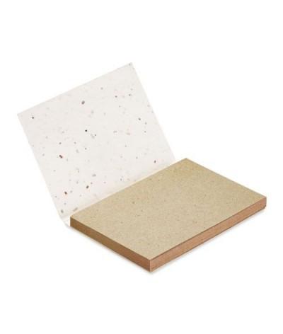 Bloc notes en papier herbe à planter
