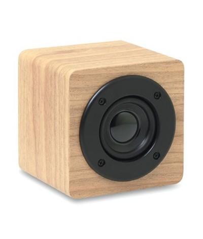 Enceinte sans fil 3w en bois