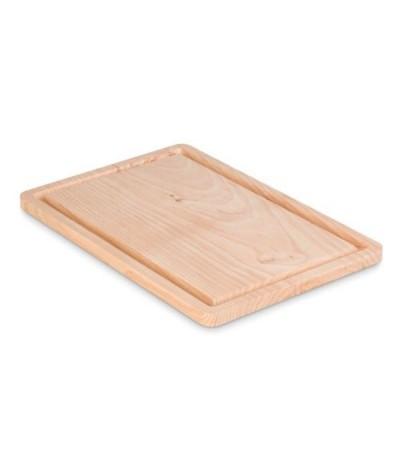 Grande planche à découper en bois naturel d'aulne