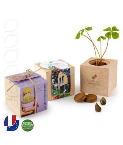 Mini kit de plantation en bois naturel