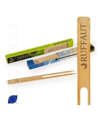 Boite avec 3 tuteurs en bambou