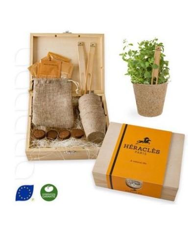 Coffret jardinage prestige en bois