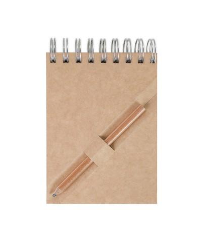 Bloc-notes a7 certifié avec crayon en bois de cèdre