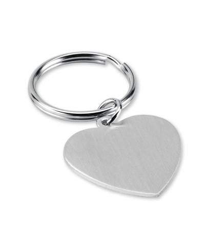 Porte-clés coeur en aluminium