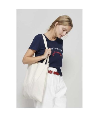 Sac shopping  made in france 100% coton écologique 150 gr.