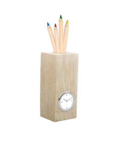 Pendulette & pot à crayons fsc