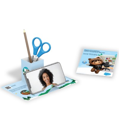 Carte office mobile POP UP recyclable