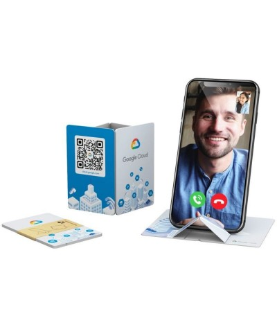 Carte POP UP support smartphone recyclable