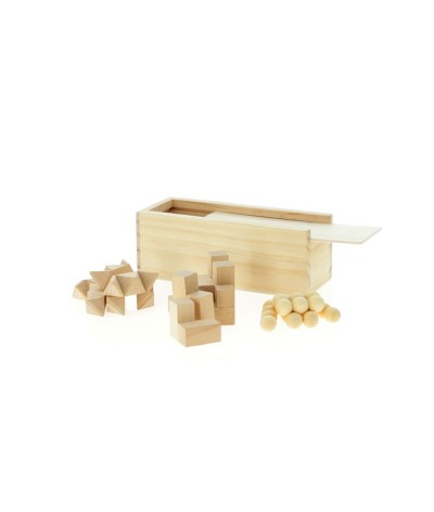 Coffret 3 jeux en bois