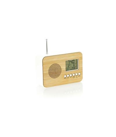 Radio réveil bambou